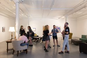 Art/Beer Lounge opening day, Sept. 10, 2016