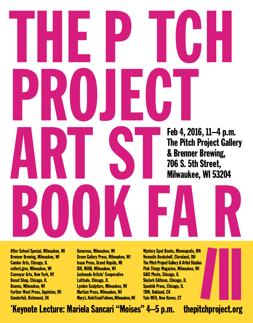 The Pitch Project Artist Book Fair